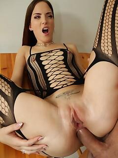 Lyen Parker gets her big ass slammed & licks cum off the table
