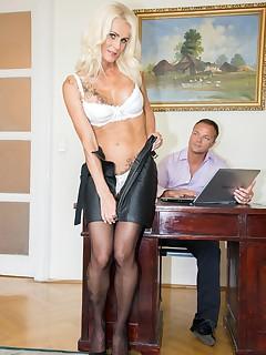 Milf Secretary Dyana Hot Fucks Her Boss in the Office