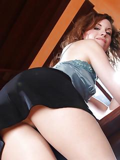 Pantyhosed MILF secretary