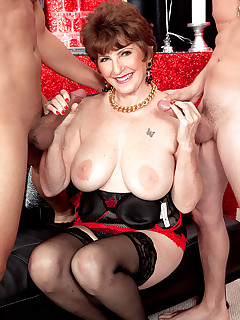 60 Plus MILFs - Bea's 70th birthday surprise: two cocks for her ass! - Bea Cummins, Rocky, and Tony Rubino (51 Photos)