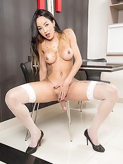 horny tranny thays tavares hardcore naked shemale photos silicon tits